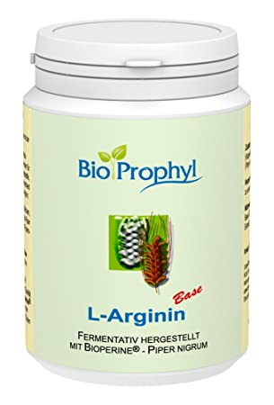 BioProphyl® L-Arginin Base 750 mg mit Bioperine® - 120 Vegi.-Kapseln