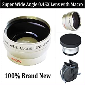WIDE ANGLE MACRO LENS The Sony SR68, SR88, HDR-XR100 HDR-XR200 Handycam Camcorder