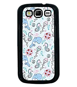 Fuson Premium 2D Back Case Cover Cute Dolphin With Multi Background Degined For Samsung Galaxy S3 Neo::Samsung Galaxy S3 Neo i9300i