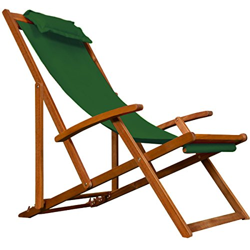 deckchair gr n sonnenliege liegestuhl strandstuhl stuhl gartenliege relaxliege holz 94x94x60 cm. Black Bedroom Furniture Sets. Home Design Ideas