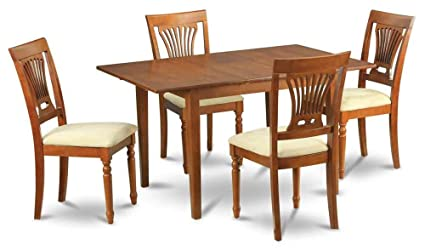 5-Pc Traditional Dining Set in Brown Finish