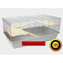1m Käfig mit 6mm Gitterabstand Hamsterkäfig Mäusekäfig Rattenkäfig+Bonus weiß/blau/rot/grün/beige