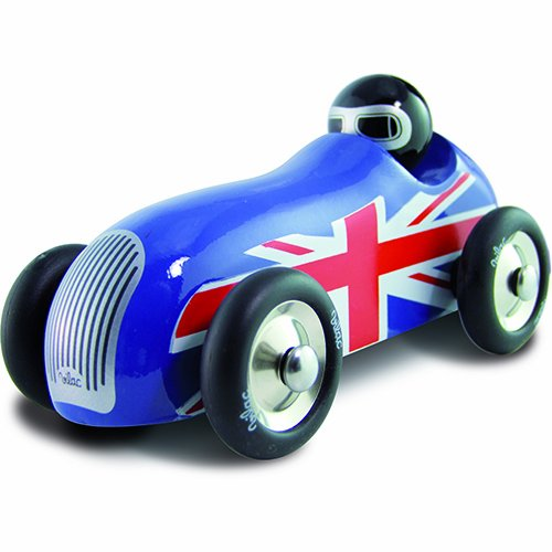 Vilac Push and Pull Baby Toy Sports Car, Union Jack - 1
