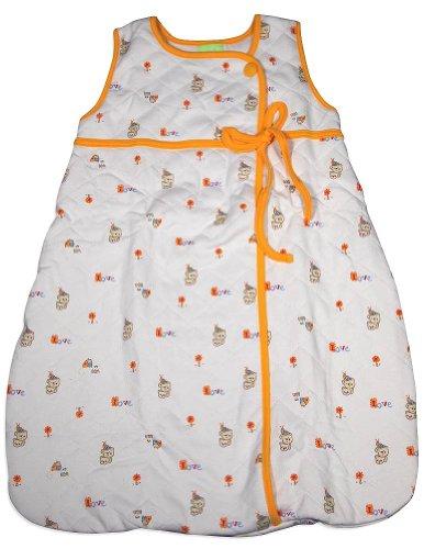 Snopea - Baby Boys Sleeveless Beary Babes Quilted Lounge Bag, White, Orange 29264-Infantsizes front-231924