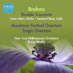 Brahms, J.: Double Concerto for Violin and Cello in A Minor / Academic Festival Overture / Tragic Overture