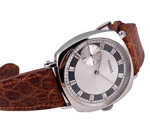 Parnis Watches 17 Jewels Movement Polished Case Hand Winding Mechanical Seagull 3600 P111504