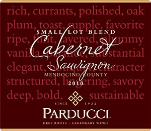 2010 Parducci Small Lot Blend Cabernet Sauvignon Mendocino County 750 Ml