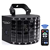 AmazPlay Stage Lighting Club Party Dance DJ Disco Lights with 27W 9 Colors Effect by Remote Control Color Black