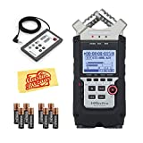 Zoom H4n Pro Handy Recorder Bundle with Zoom RC4 Remote Control, Batteries, and Austin Bazaar Polishing Cloth
