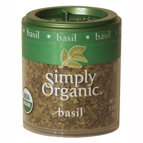 Simply Organic Basil Leaf Sweet Cut and Sifted Certified Organic 0 18 Ounce Containers Pack of 6