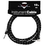 FENDER CABLE 3 M COUDE TWEED NOIR CUSTOM SHOP SERIES Accessoires guitare Cable Cable instrument