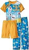 Disney Little Boys' Frozen Olaf Wild For Summer 3 Piece Pajama Set