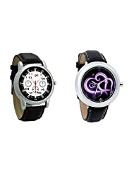 Gledati Men's Black Dial And Foster's Women's Black Dial Analog Watch Combo_ADCOMB0001826