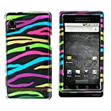 "Motorola Droid A855 ""PDA"" Cell Phone Rainbow Zebra Design Protective Case F ...."