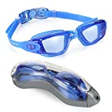 AEGEND Clear Swimming Goggles No Leaking Anti Fog UV Protection Triathlon Swim Goggles with Free Protection Case for Adult Men Women Youth Kids Child, Blue - Sports hot deals