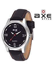 AXE Style Ablaze Collection Casual Analogue Men's Watch - X0147S_Black