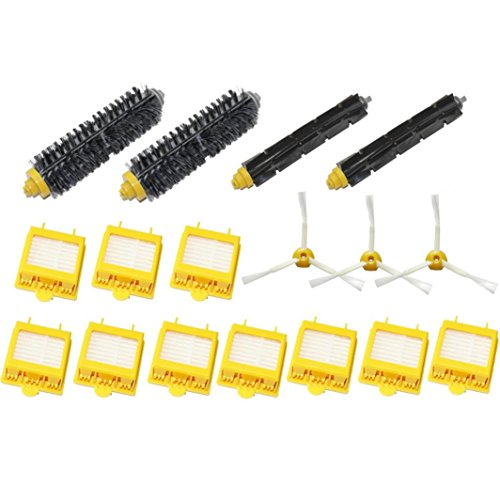 Keepfit Replacement Accessories Kit Vacuum Cleaner parts Include 3-Armed Side Brush,Hepa Filters,Bristle Brush,Flexible Beater Brush for iRobot Roomba 700 Series 760 770 780 790 Vacuum Cleaning Robots (Roomba 655 Remote compare prices)