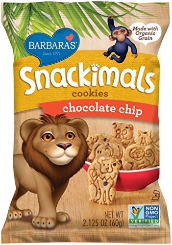 Theme Park Food and Safety Tips for the Whole Family - Barbara's Snackimals Cookies, Chocolate Chip, 2.125 Ounce (Pack of 18)
