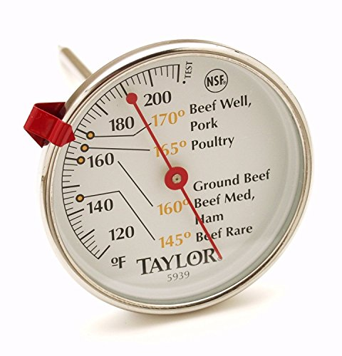 Favor Taylor 5939 Round Dial Stainless Steel 5 1/2