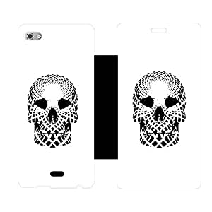 Skintice Designer Flip Cover with hi-res printed Vinyl sticker wrap-around for Micromax Canvas Sliver 5 Q449