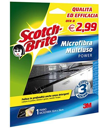 Scotch-Brite 47166 Panno Microfibra Multiuso, Blu