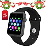 Lemfo Bluetooth Smart Watch Phone GSM Pedometer Fitness Tracker (Black)