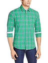 Vivaldi Men's Casual Shirt (8907007113363_VC0856_Medium_GR/NY/WH)