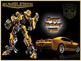"Single Source Party Supplies - Transformers Cake Edible Icing Image #1 - 8.0"" x - 10.5"" Rectangular"