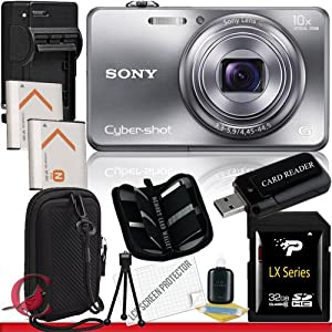Sony Cyber-shot DSC-WX150 Digital Camera (Silver) 32GB Package 6