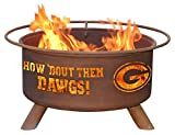 Georgia Bulldogs UGA Portable Steel Fire Pit Grill