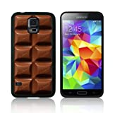 'CHOCOLATE BAR, SMARTIES, MALTESERS, JELLYBEANS' (S5H) TPU Gel Case for SAMSUNG GALAXY S5 (SV) Skin Cover Shock Resistant Protection - Fast Ship (Chocolate Bar)