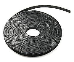 3D printer Gt2 belt 2mm pitch 6mm width (5 Meter, Black)