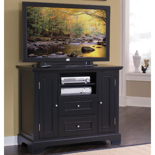 Cheap Home Styles 5531-100 Bedford Compact Credenza TV Stand, Black (5531-100)