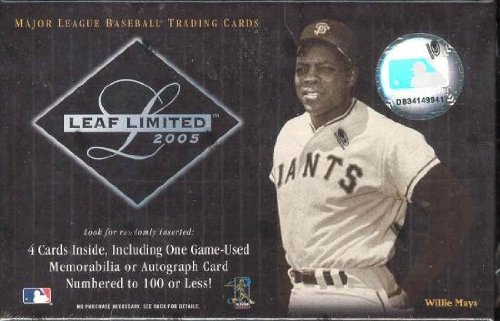 2005 Leaf Limited Baseball Hobby Box