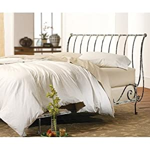 Amazon Paris Sleigh Bed Vintage White Open By
