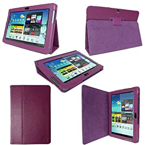 etui housse luxe cuir violet pour samsung galaxy tab 2 10. Black Bedroom Furniture Sets. Home Design Ideas