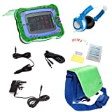Ultimate Addons UK Boys Deluxe Bundle for vTech InnoTab 2, including bag, case, mains adapter, car adapter, 5 metre extender, headphones and screen protectors