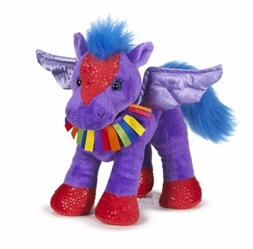 "Webkinz Rainbow Pegasus 8.5"" Plush back-10474"