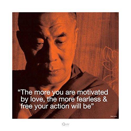 Dalai Lama Love Quote Buddha Zen Religious Motivational Poster 16 x 16 inches