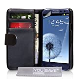 Yousave Accessories PU Leather Wallet Cover Case with Screen Protector for Samsung Galaxy S3 I9300by Yousave Accessories
