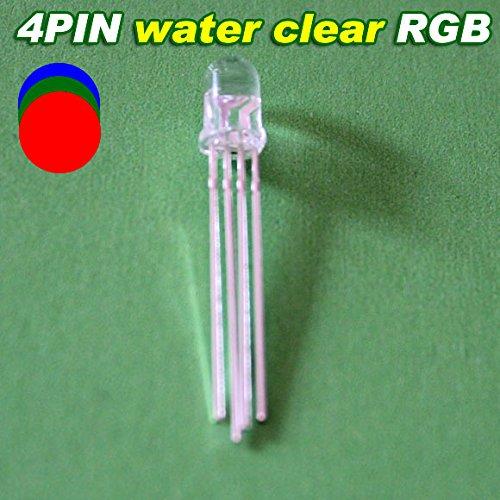 100Pcs X 5Mm 4 Pin Common Anode Rgb Led