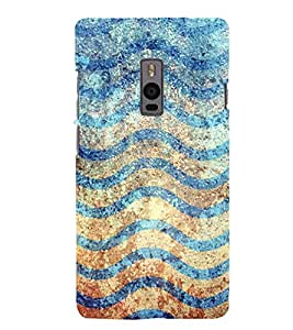 Waves Pattern 3D Hard Polycarbonate Designer Back Case Cover for OnePlus 2 :: OnePlus Two :: One +2