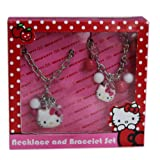 Hello Kitty Necklace And Bracelet Set