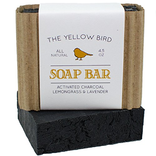 The Yellow Bird Activated Charcoal Soap Bar. All Natural Detoxifying Cleanser. Certified Organic Ingredients. Paraben & Sulfate Free. For Acne, Eczema, Psoriasis, Rosacea, Dry Sensitive Skin (Virgin Carbon Bulk compare prices)