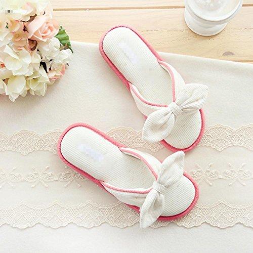 Pantofole di cotone papillon bordo indoor pantofole antiscivolo vasca , a , 38-39