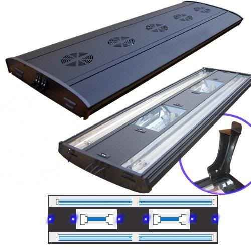 48'' Metal Halide Aquarium Light 2x 150 HQI w/ 4- 65 Actinics + Moonlights