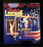 NADIA COMANECI / OLYMPIC ROMANIAN WOMEN'S GYMNASTICS (1976 SUMMER OLYMPICS) * 1996 TIMELESS LEGENDS Kenner Starting Lineup & Exclusive Collector Trading Card