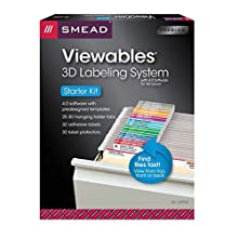 Smead Viewables® Labeling System, Starter Kit, Hanging Folder Labels, Ink-Jet and Laser Printers (64902)