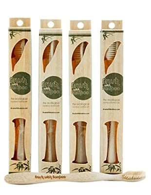 Bamboo Toothbrush - Brush With Bamboo (Pack of 4)
