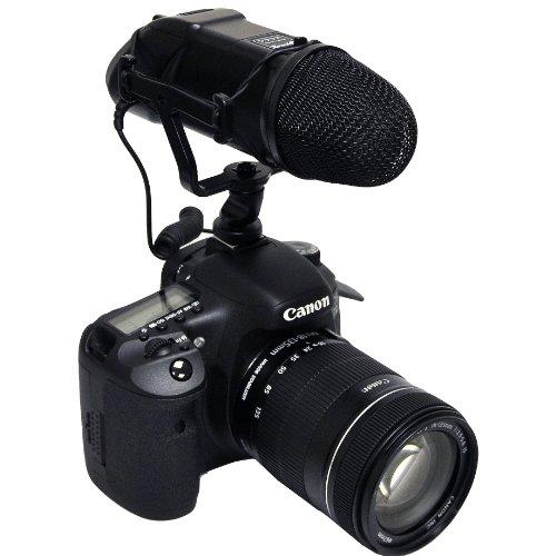 Opteka VM-200 Video Condenser Stereo Shotgun Microphone for Digital SLR Cameras & Camcorders